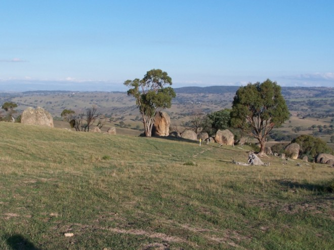 Boulders scattered on hillsides Central New South wales 4