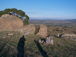 Boulders scattered on hillsides Central New South wales 3