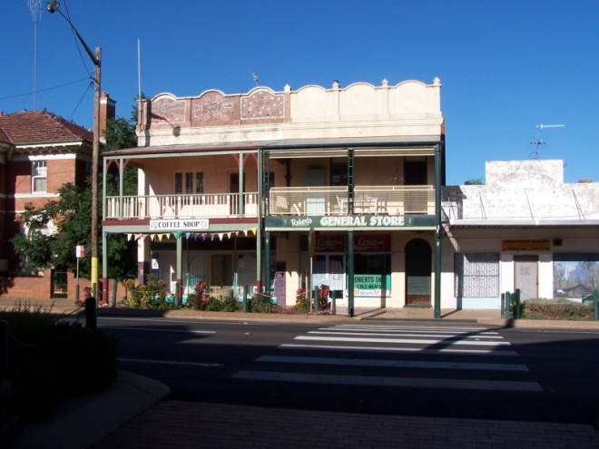 Parkes Town streetscapes for production location 1