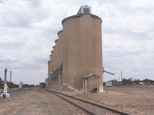 Imposing Concrete Silos. West Wyalong