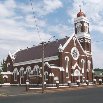 Large Cathedral in Street. West Wyalong