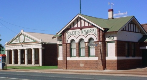 Soldiers Memorial Hall. West Wyalong