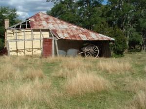 Mud Farm Hut. Oberon