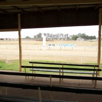 Outback Sand Horse Racetrack. Hay