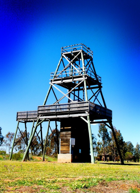Timber Mining Poppet Head. West Wyalong